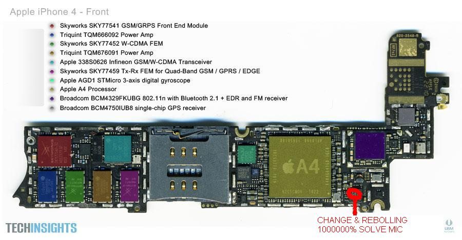 iphone4 pcb front free schematic diagram rh datasheetgadget wordpress com iPhone 4S Parts Diagram Manual PDF iPhone 3GS Screw Diagram