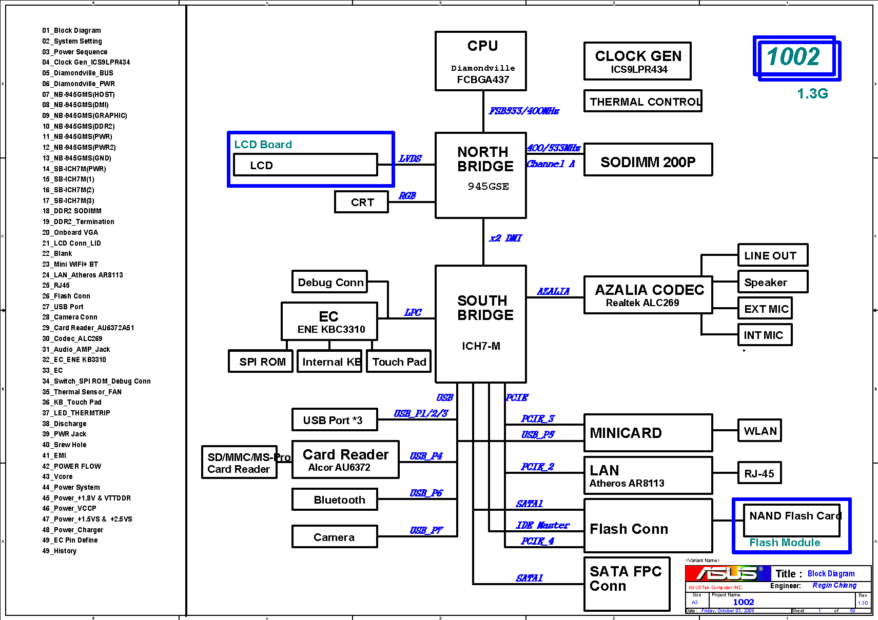 Asus 1002 Block Diagram Free Schematic