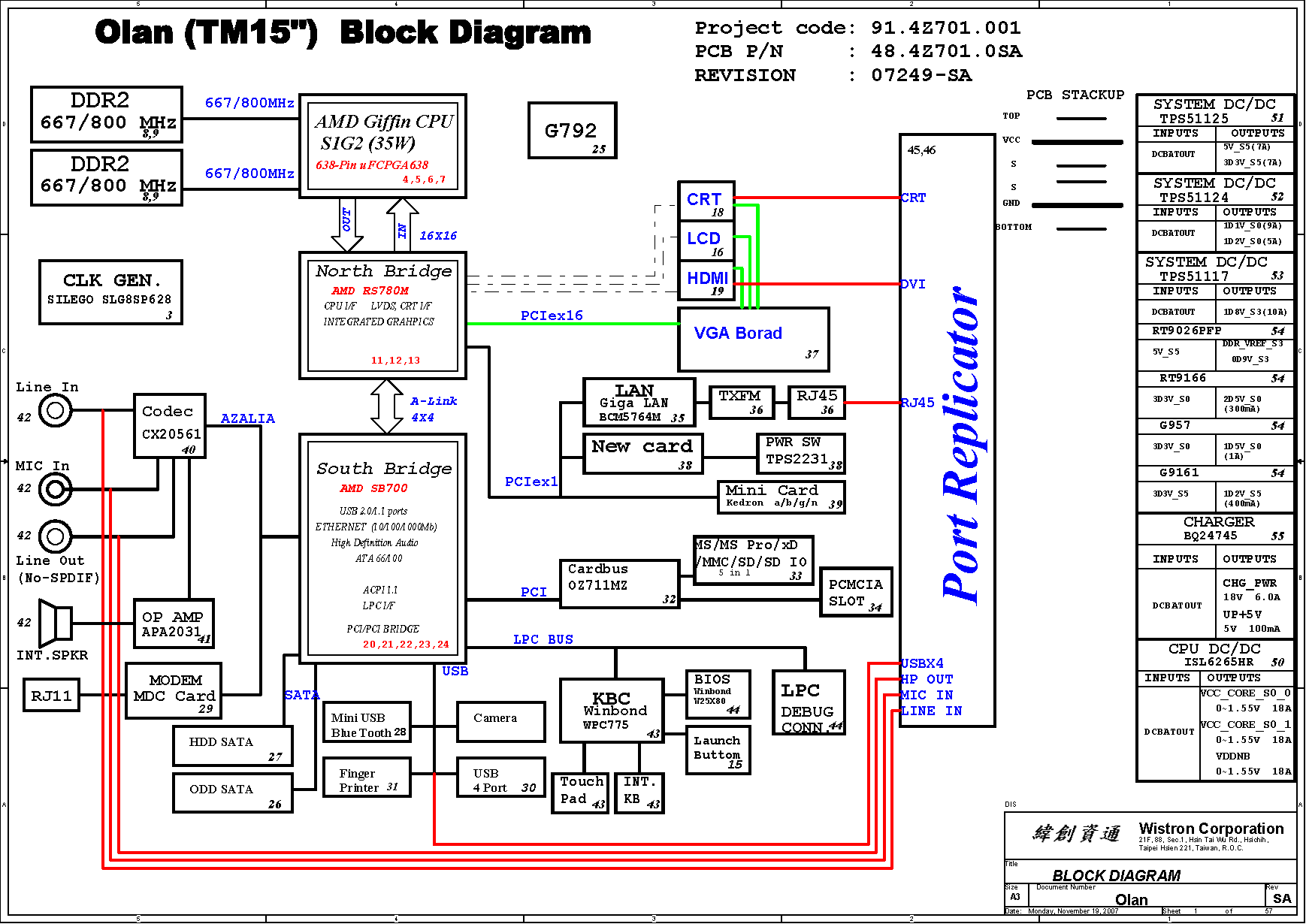 Acer Extensa 5430  5530  5530g Block Diagram