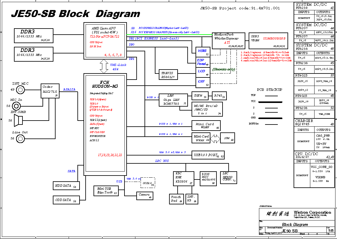 ACER ASPIRE 55605560G Block    Diagram      Free    Schematic       Diagram