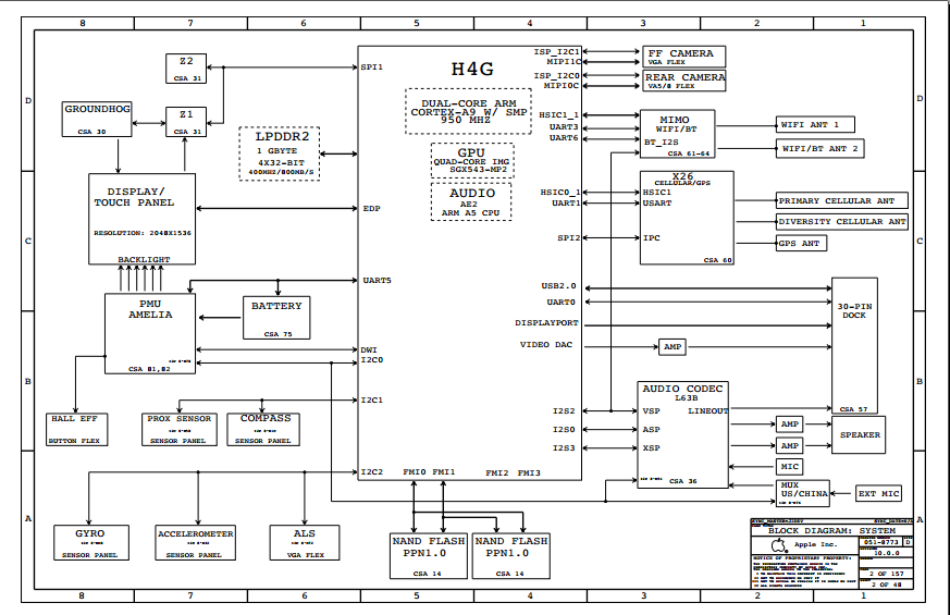 Apple Ipad 3 Mainboard Schematics Diagram And Hardware Solution