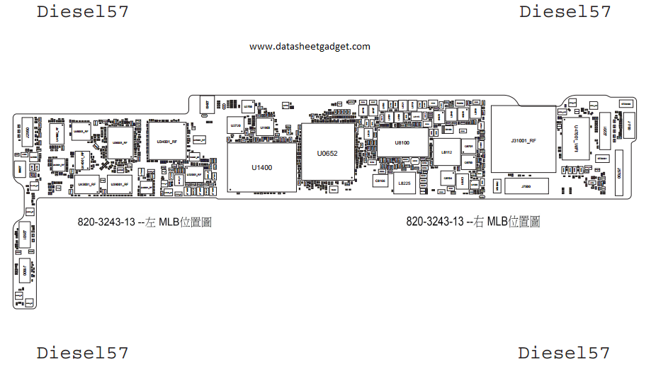 schematics diagrams free download: Apple ipad mini mainboard schematics diagram and hardware solution