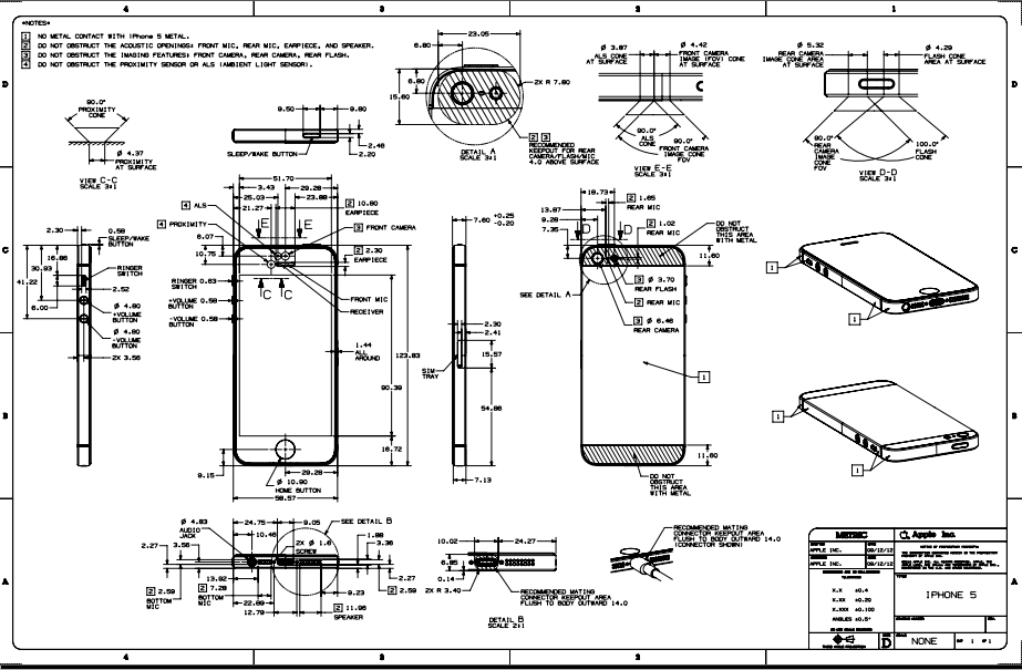 apple iphone 5 \u2013 16gb 32gb 64gb schematics and hardware iPhone Software